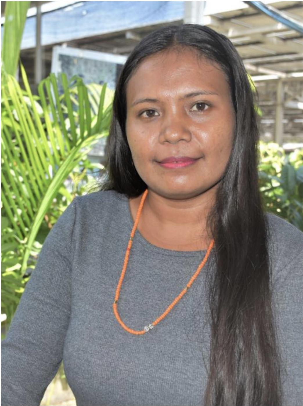 Esmenia Laura Ximenes, the Executive Director for Timor-Leste Young Women's Group (GFFTL). Photo: UN Women_Helio Miguel