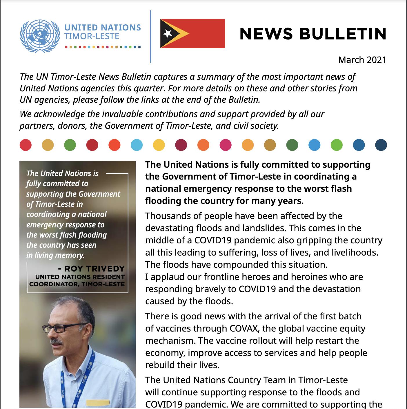UN News Bulletin, March 2021 Edition