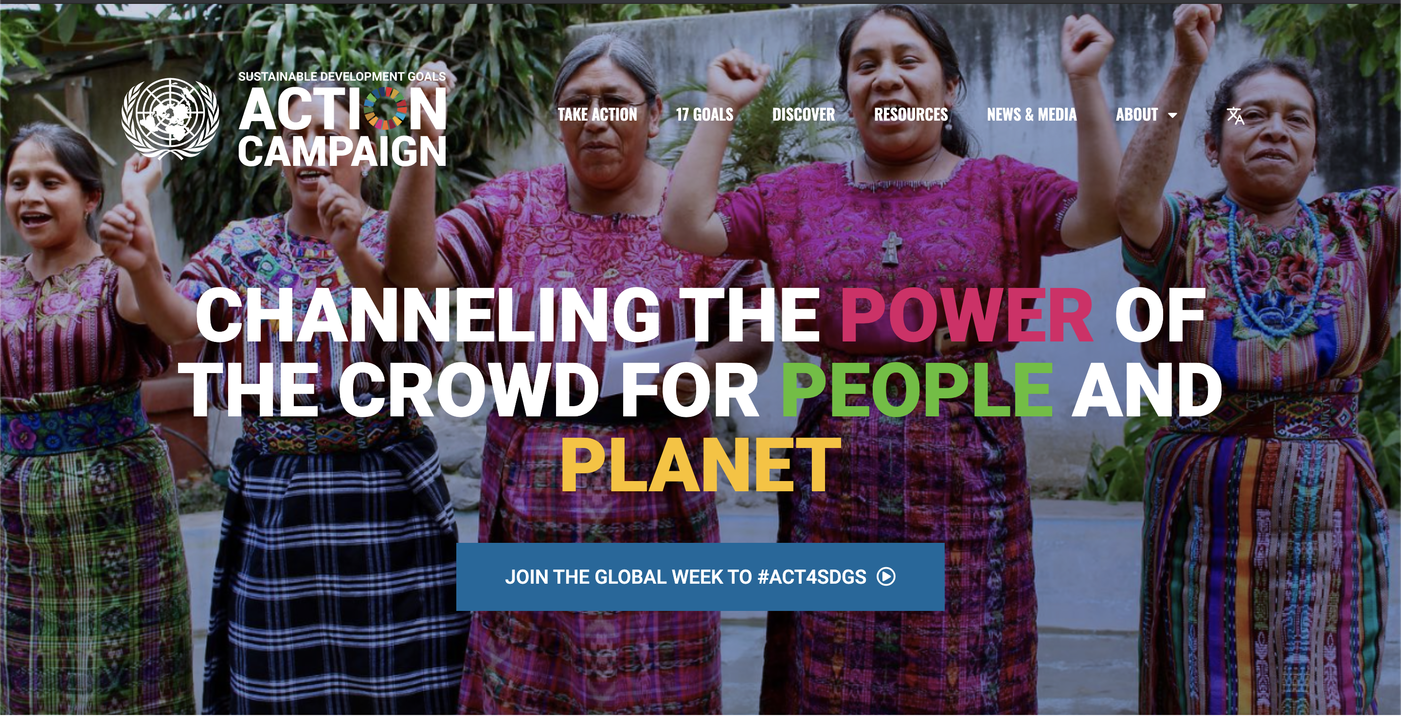 Join the Global Week to #Act4SDGs (17-28 September 2012)