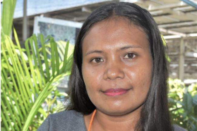 Esmenia Laura Ximenes, the Executive Director for Timor-Leste Young Women's Group (GFFTL). Photo: UN Women_Helio Miguel